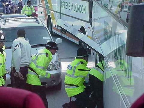 fairford coaches police detain