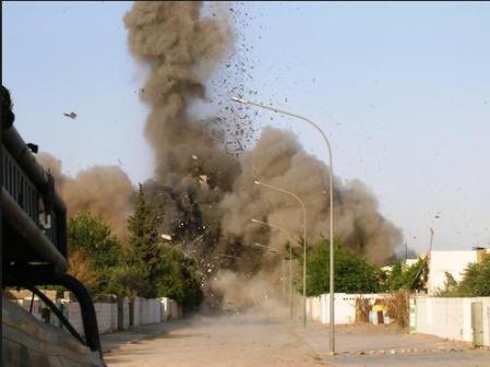 Al Quaim town & market bombed