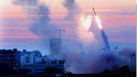 missile downed iron dome shield