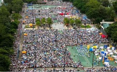 HONGKONG JULY PROTEST crowd