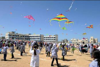 gaza kites tsunami anniversary
