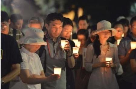 gaza tokyo candles