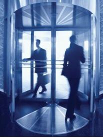 revolving door people