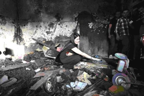 palestinian home bombed